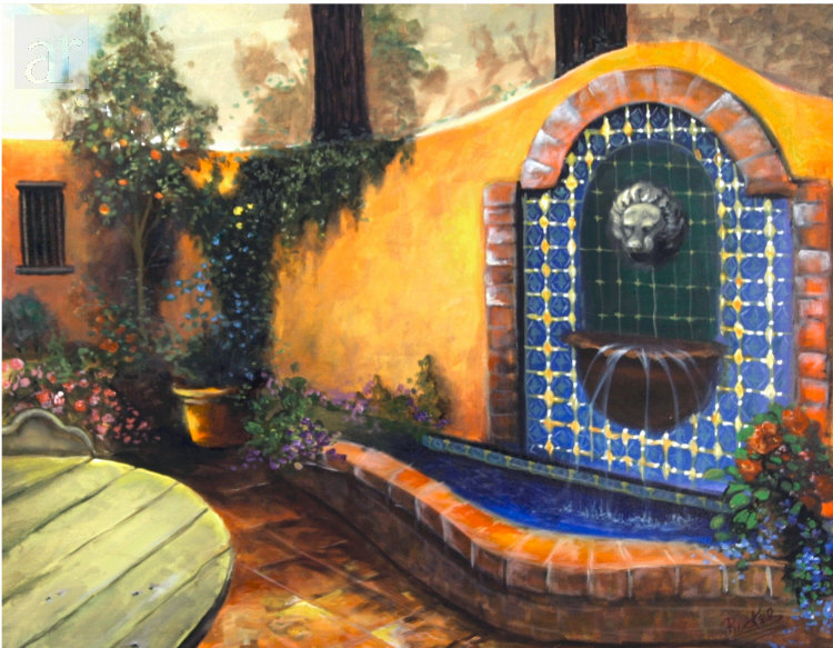 The art of mary rucker for Mexican style outdoor fountains